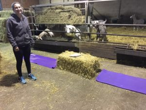 Straw bales as gym equipment